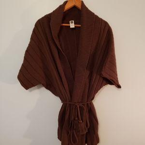Chocolate Brown Gap Wrap Sweater